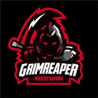 Logo e-sports di mietitore scuro