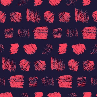 Motivo a quadrati graffiati rosso scuro grunge su nero