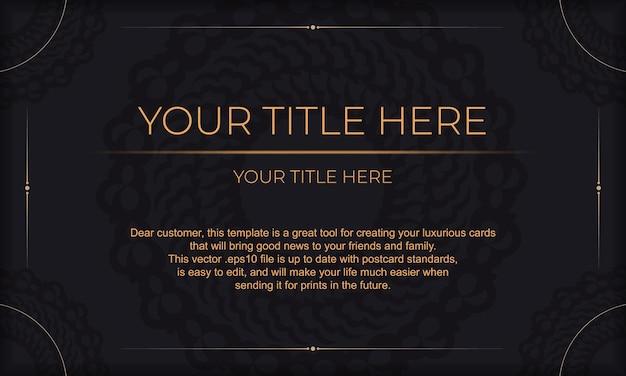 Sfondo di lusso scuro con ornamento mandala astratto. elementi eleganti e classici con spazio per il tuo testo.