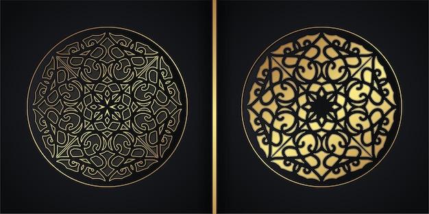 Sfondo scuro mandala concept design
