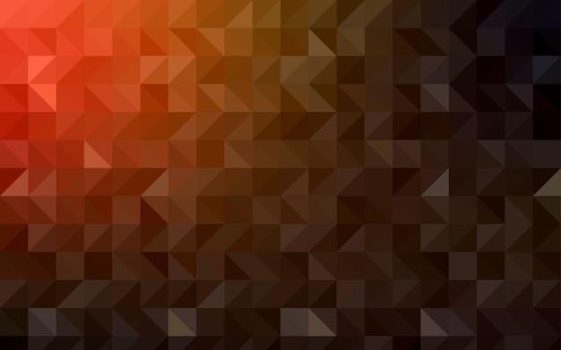 Modello di mosaico triangolo vettoriale multicolor scuro