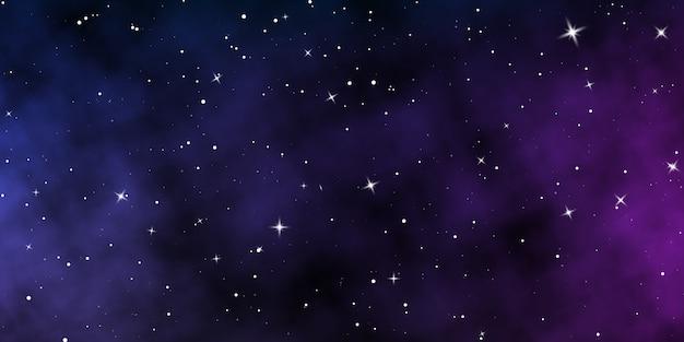 Cielo notturno scuro. priorità bassa di colore del cielo stellato. spazio infinito con stelle lucenti.