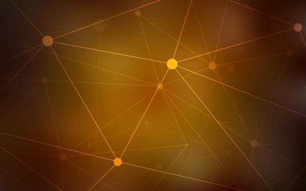 Modello vettoriale arancione scuro con cerchi