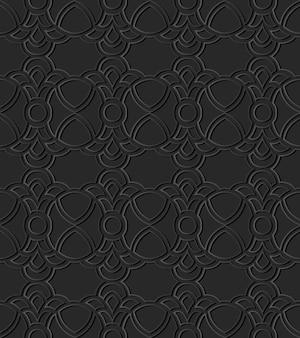 Arte di carta scura curve round cross crest frame chain
