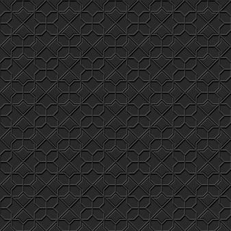 Carta scura arte geometria islamica modello croce sfondo senza giunture