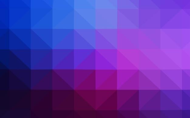 Rosa scuro, blu a basso numero di poligoni.