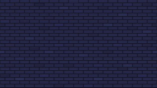 Muro di mattoni scuro senza soluzione di continuità. raffinato modello interno con mattoni neri bluastri. ripetendo la muratura. trama pulita e dettagliata.