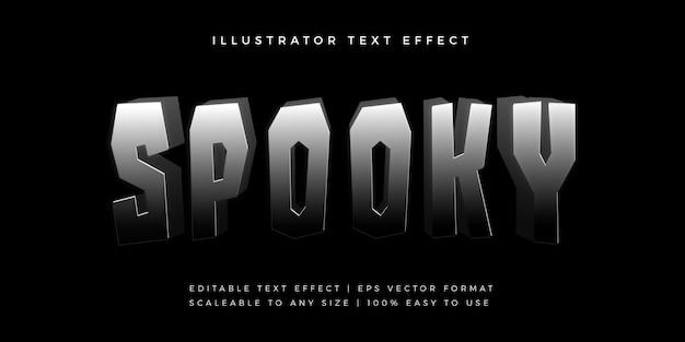 Effetto carattere stile testo spettrale scuro