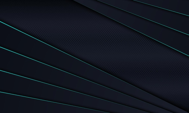 Strato sovrapposto a strisce scure con sfondo di linee blu illustrazione vettoriale