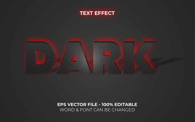 Effetto testo scuro retroilluminazione stile neon effetto testo modificabile
