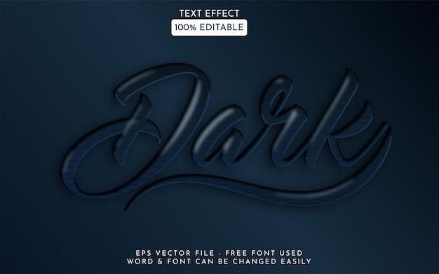Stile effetto testo scuro vettore effetto testo modificabile