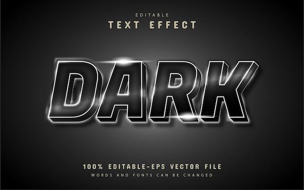 Effetto di testo scuro