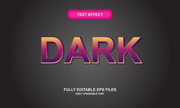 Effetto testo scuro