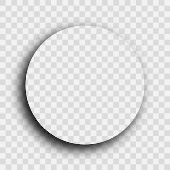 Ombra realistica trasparente scura. ombra del cerchio isolata su sfondo trasparente. illustrazione vettoriale.