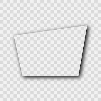 Ombra realistica trasparente scura. ombra trapezoidale isolata su sfondo trasparente. illustrazione vettoriale.