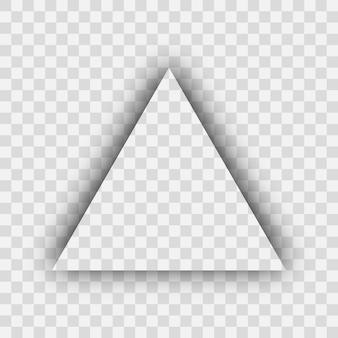 Ombra realistica trasparente scura. ombra del triangolo isolata su sfondo trasparente. illustrazione vettoriale.