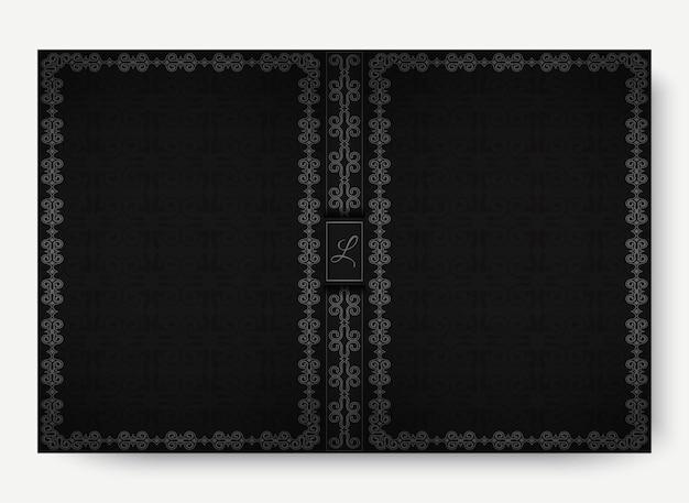Copertina vintage scura con cornice ornamentale