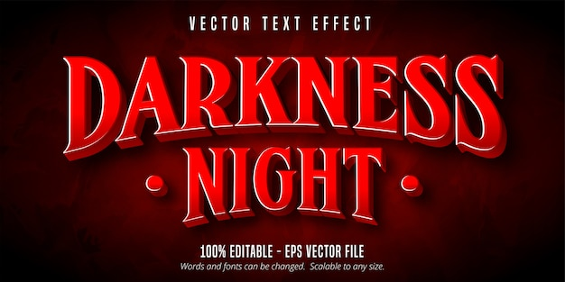 Testo notte oscurità, effetto di testo modificabile in stile gioco