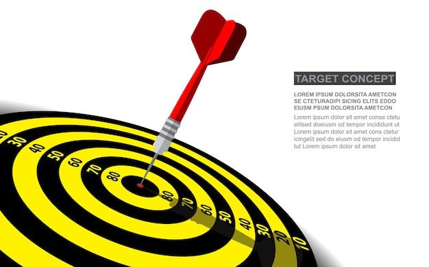 Concetto delle soluzioni di affari di successo di vettore dell'obiettivo di dardi.