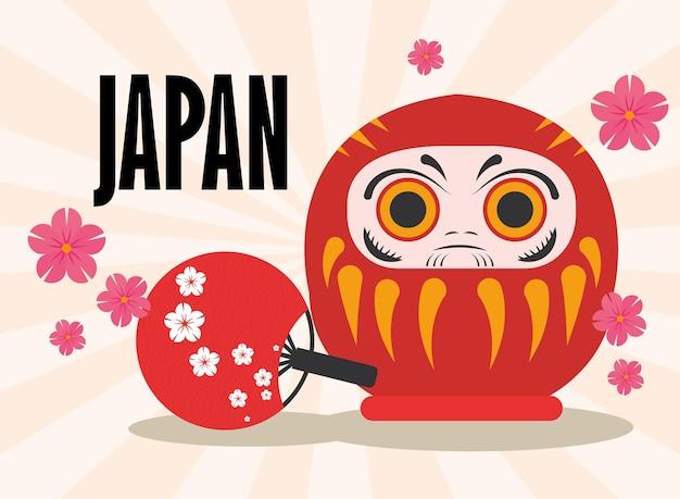 Bambola dei desideri giapponese daruma