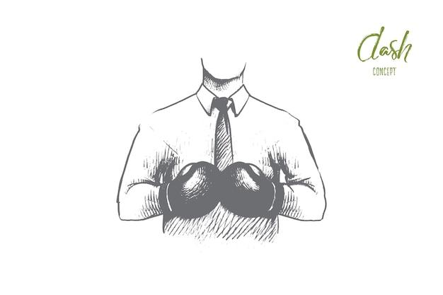 Illustrazione del concetto di dash
