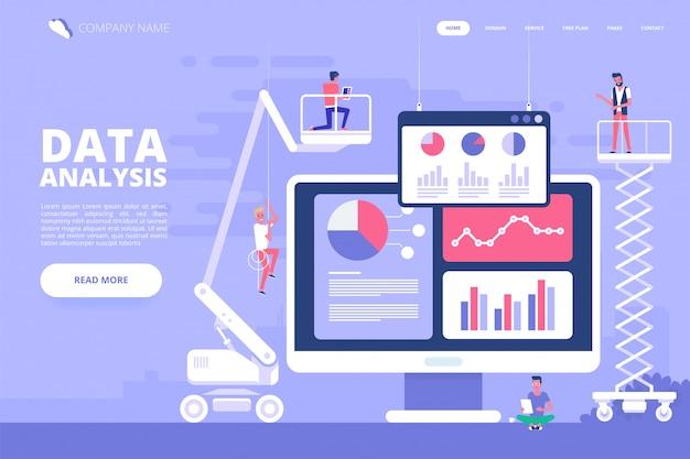 Concetto di design di analisi dei dati. illustrazione vettoriale