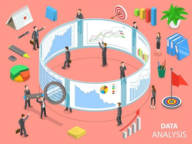 Concetto isometrico piatto di analisi dei dati