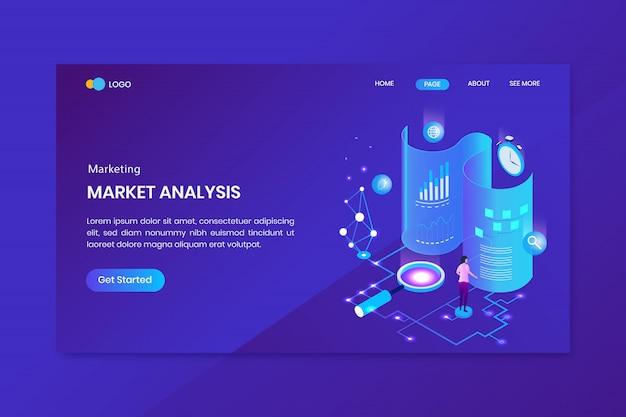 Pagina di destinazione del concetto isometrico di analisi dei dati