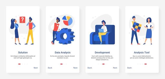 Tecnologia di ricerca di analisi dei dati, soluzione, set di app mobili per lo sviluppo aziendale