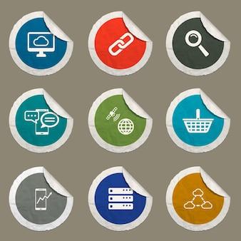 Set di icone per l'analisi dei dati per i siti web e l'interfaccia utente