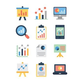 Pacchetto di icone di analisi dei dati