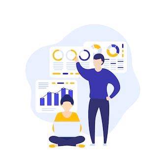 Analisi dei dati, persone che lavorano con i dati aziendali