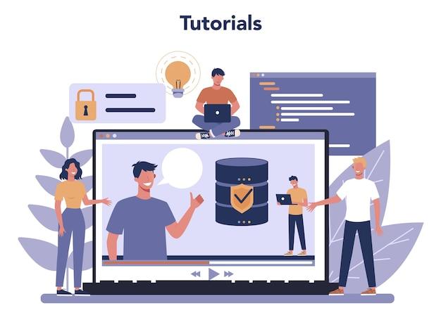 Piattaforma o servizio online dell'amministratore di database