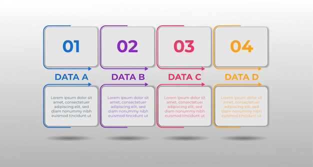 Modello di infografica selezione confronto dati