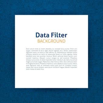Modello di filtro dati. illustrazione vettoriale di carta su disegno di contorno.