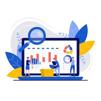 Concetto di gestione dei dati con carattere. organizzazione e ottimizzazione del flusso di lavoro.