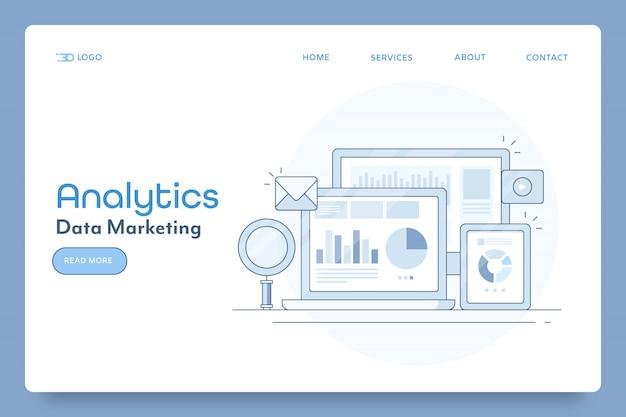 Banner concettuale di marketing dei dati