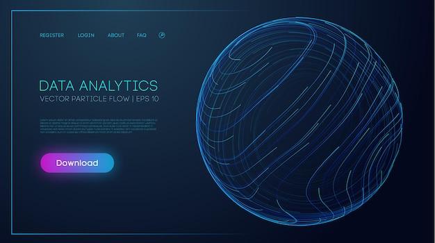 Illustrazione vettoriale di estrazione e gestione dei dati tecnologia internet per l'elaborazione di grandi quantità di dati