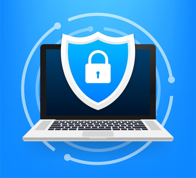 Illustrazione di protezione dei dati e delle informazioni pirata