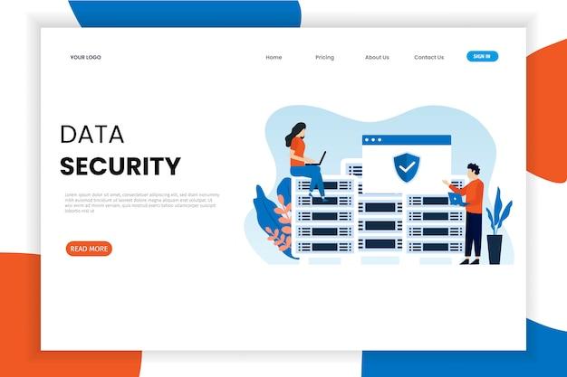 Modello di pagina di destinazione per la sicurezza dei dati