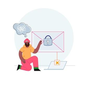 Illustrazione di concetto di sicurezza e privacy dei dati