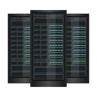 Illustrazione di progettazione del server di dati isolata