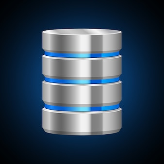 Illustrazione del server di dati su fondo bianco