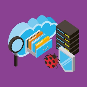 Centro di database Vettore Premium