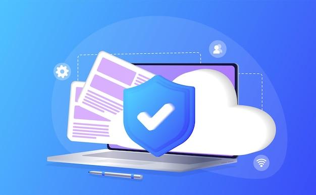 Database con server cloud dataset processo di classificazione analitica dei dati del database