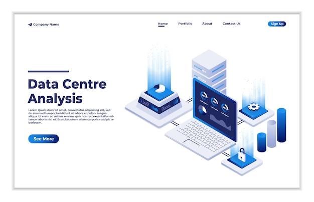 Datastation del futuro hardware della rete di server elettronici del centro dati globale per la soluzione software