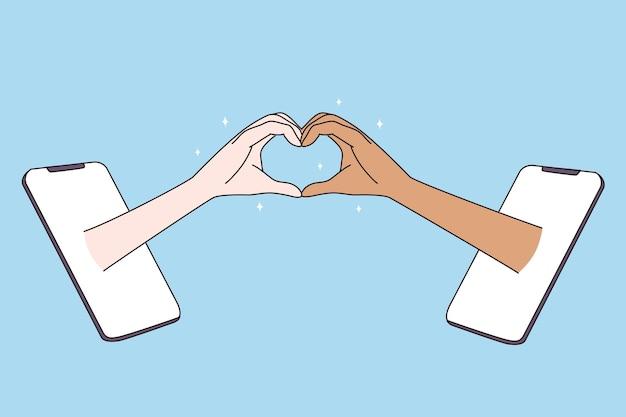 Incontri in internet e concetto di amore multirazziale