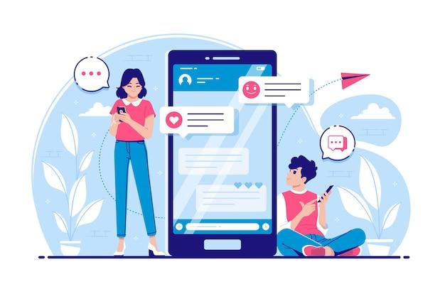 Incontri online concetto illustrazione