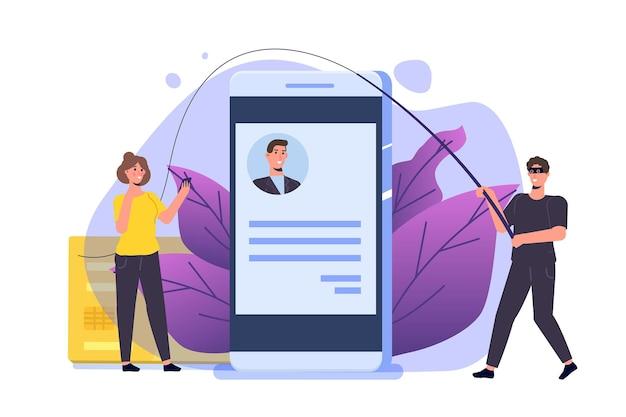 Truffa di appuntamenti, concetto di frode di appuntamenti online.