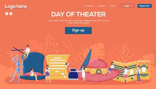 Pagina di destinazione del giorno del teatro